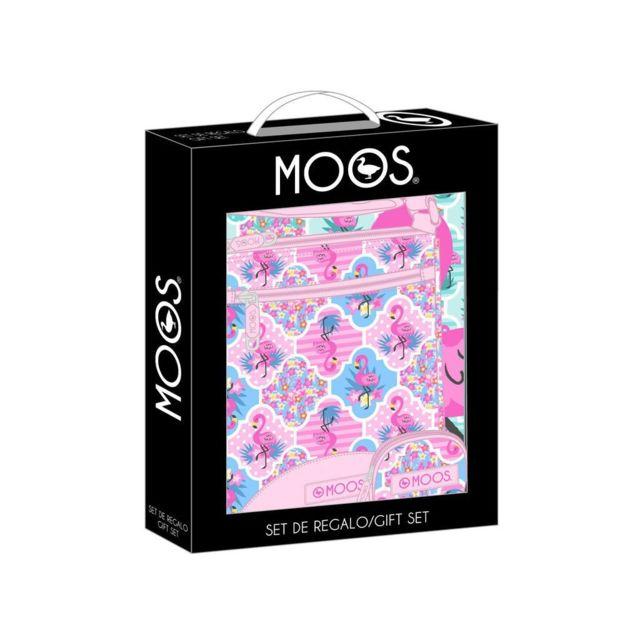 Safta - Ensemble cadeau Moos Flamingo Pink