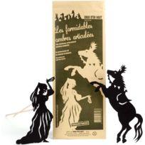 COCO D'EN HAUT - Silhouettes articulées pour théatre d'ombres Princesse et Cheval