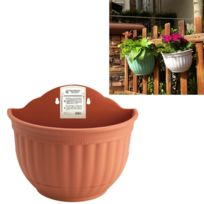wewoo pot de fleur pots suspendus de style europen semi circulaire imitation ieather wall - Pot Fleur Exterieur Grande Taille