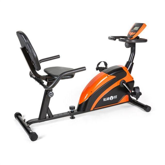 KLARFIT - Relaxbike 5G vélo dossier ergomètre 100kg max -orange