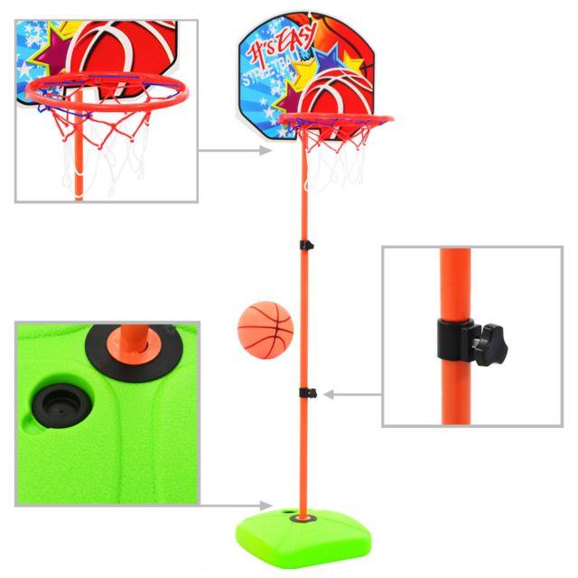 Admirable Jouets de sport famille Wellington Ensemble de panier et de ballon de basket pour enfants