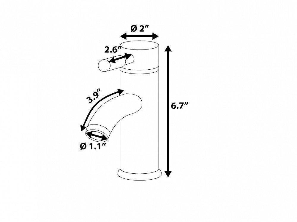 Robinet mitigeur pour vasque & lavabo - robinetterie salle de bain - chromé