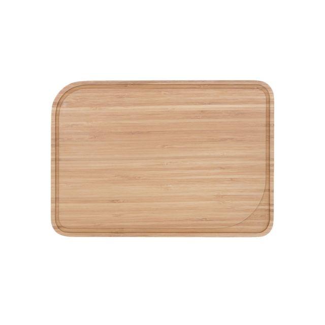 Pebbly Kitchen Planche à découper avec rigole 28.5 x 20 cm - naturel