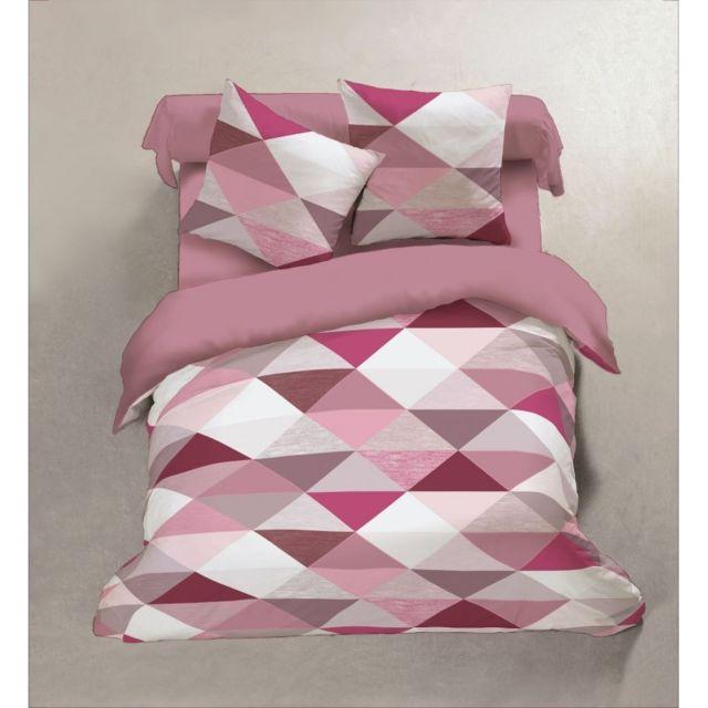 lm distribution housse de couette flanelle 240 cm moderne vieux rose pas cher achat vente. Black Bedroom Furniture Sets. Home Design Ideas