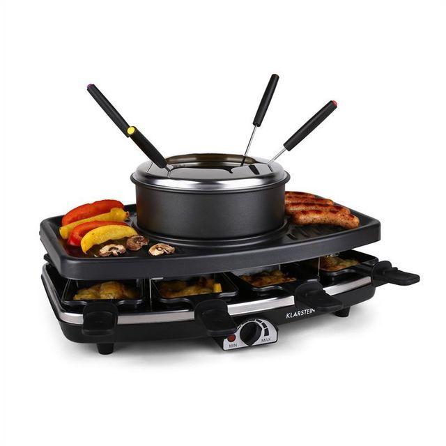 KLARSTEIN Entrecote grill raclette fondue 1100W 8 personnes