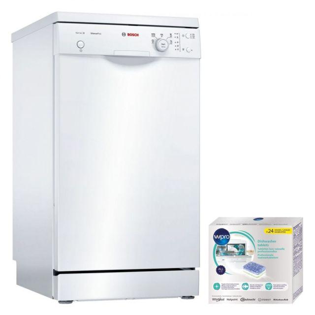 Bosch lave-vaisselle posable blanc 48dB A+ 9 couverts 45cm Bras de lavage DuoPower
