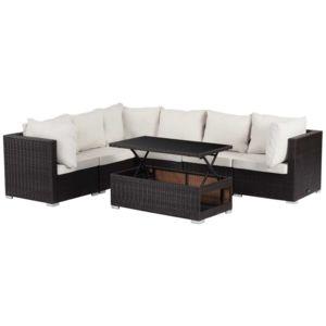 habitat et jardin salon de jardin modulable en r sine tress e auckland luxe buffalo table. Black Bedroom Furniture Sets. Home Design Ideas