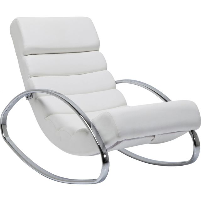 Karedesign Fauteuil Rocking Chair Manhattan blanc Kare Design