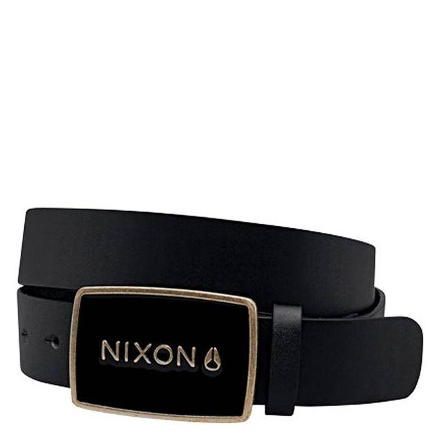 Nixon - Ceinture Enamel Wordmark Matte Black Gold Noir et or S - pas ... 23e46fb2294