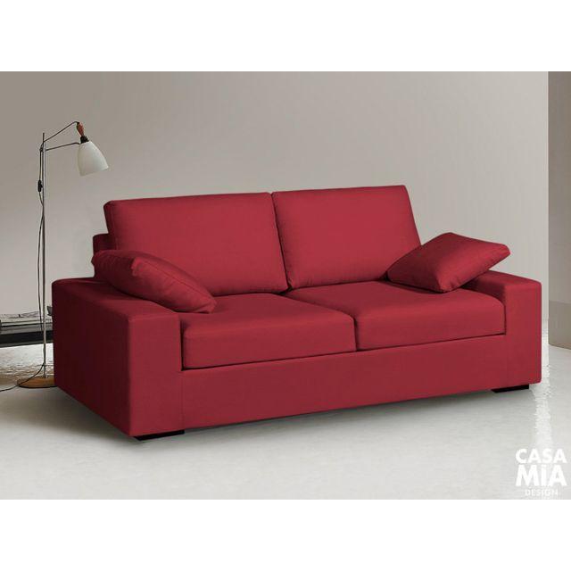 casamiadesign canap bastille 3 places confortable d houssable et garantie 3 ans tissu. Black Bedroom Furniture Sets. Home Design Ideas