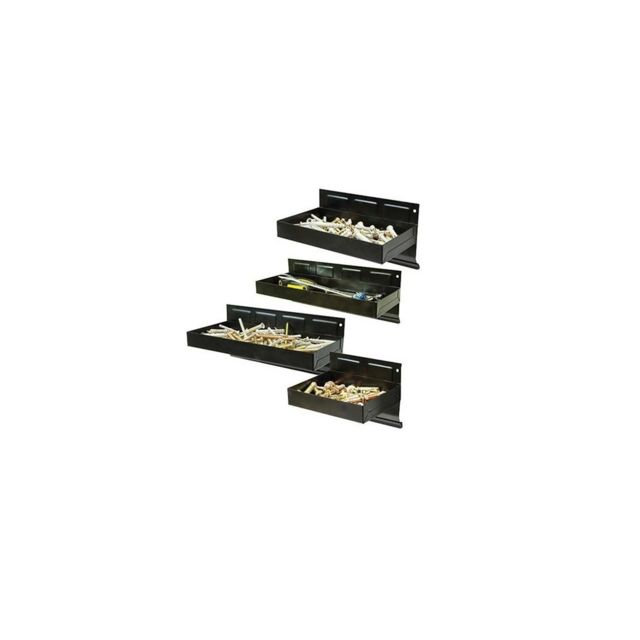 Silverline 4 plateaux magnétiques 150, 215, 270 et 310 mm pour outils et vis - 868873
