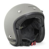 Harisson - casque jet moto scooter fibre gris-noir mat - Ca203 L