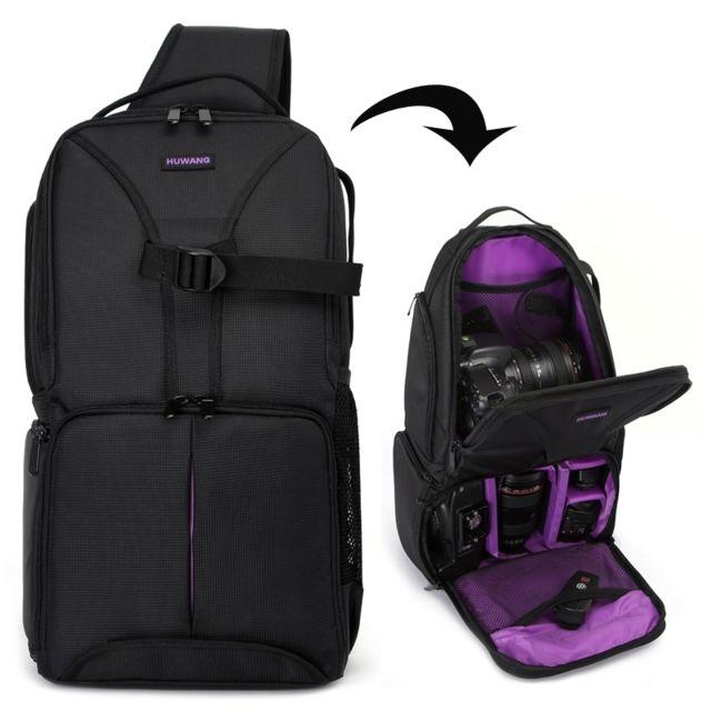 nouveaux styles 0b18d 01394 Sac à dos appareil photo Violet pour Nikon à imperméable à l'épaule  rembourré antichoc étui