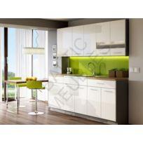 Baltic Meubles - Cuisine Apia blanc laqué - 2m20/6 meubles