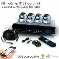 SecuriteGOODdeal - Pack de video surveillance 4 dômes extérieurs