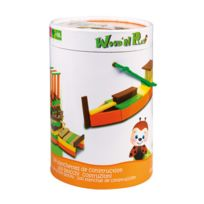 WOOD N PLAY - Baril 100 blocs construction