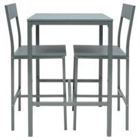d1f931cc16e74b Mange-debout - Table De Bar - Table Haute Manira Ensemble table bar de 2. NO  NAME ...