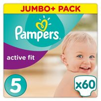 PAMPERS - Active Fit - Couches Taille 5 Junior, 11-23kg - 60 couches