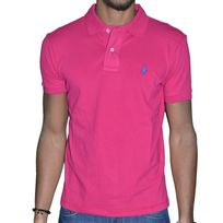 Polo Ralph Lauren - Ralph Lauren - Polo Manches Courtes - Small Pony Custom Fit - Future Pink Rose Bleu