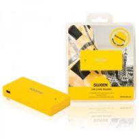 Sweex - Lecteur de carte Usb jaune Barcelone