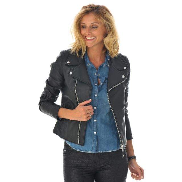 recherche blouson cuir femme les vestes la mode sont populaires partout dans le monde. Black Bedroom Furniture Sets. Home Design Ideas