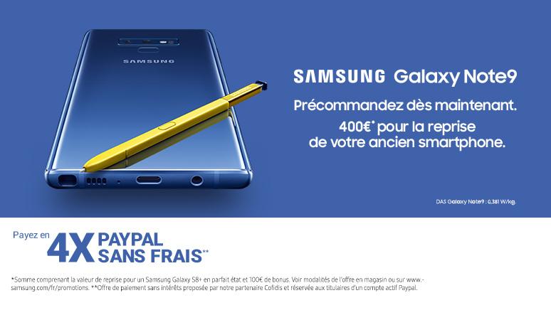 Précommande Samsung Note 9