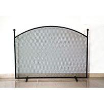 Farm-mdlt - Ecran de cheminée en acier noir 100x72x15 cm