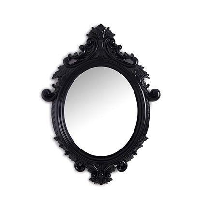 Miroir ovale achat vente de miroir pas cher for Miroir baroque noir ovale