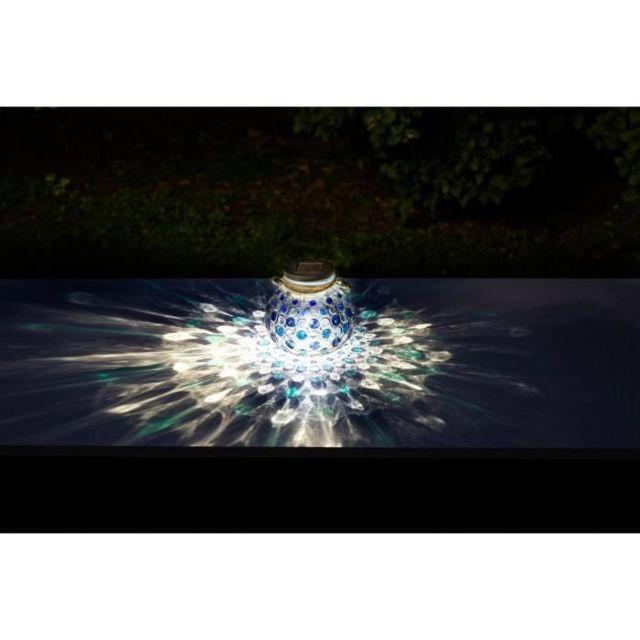 DECORATION LUMINEUSE Décoration de table a énergie solaire - effet 3D - Bleu