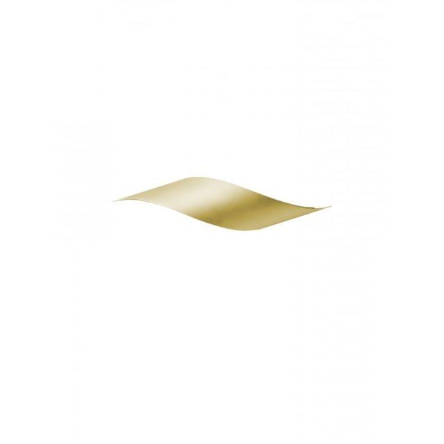 Leds C4 Applique Rizz, laiton satiné et Ppma, 34 cm