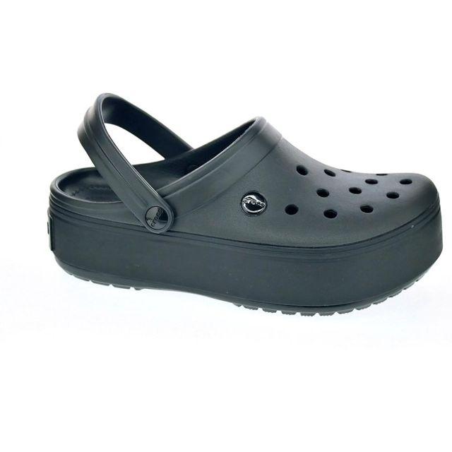 Crocs - Chaussures Femme Sabot modele Crocband Platform Clog Noir - pas  cher Achat   Vente Sandales et tongs femme - RueDuCommerce 2ef2064a9ac