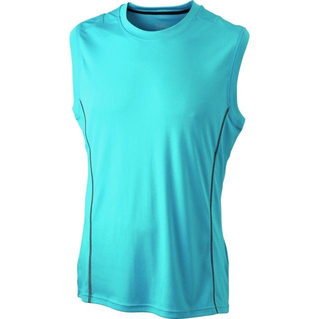 cc5a43f572e51 James   Nicholson - t-shirt débardeur respirant running Jn423 -bleu - Homme  -