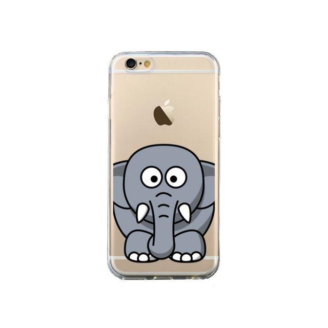 coque iphone 6 et 6s elephant animal transparente yohan b