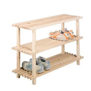 zeller present etag re rangement chaussures bois 3 tages zeller pas cher achat vente. Black Bedroom Furniture Sets. Home Design Ideas