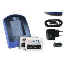 mtb more energy® - 2 Batteries + Chargeur USB, Np-bx1 pour Sony Cyber-shot Dsc-rx100 Ii, Wx300