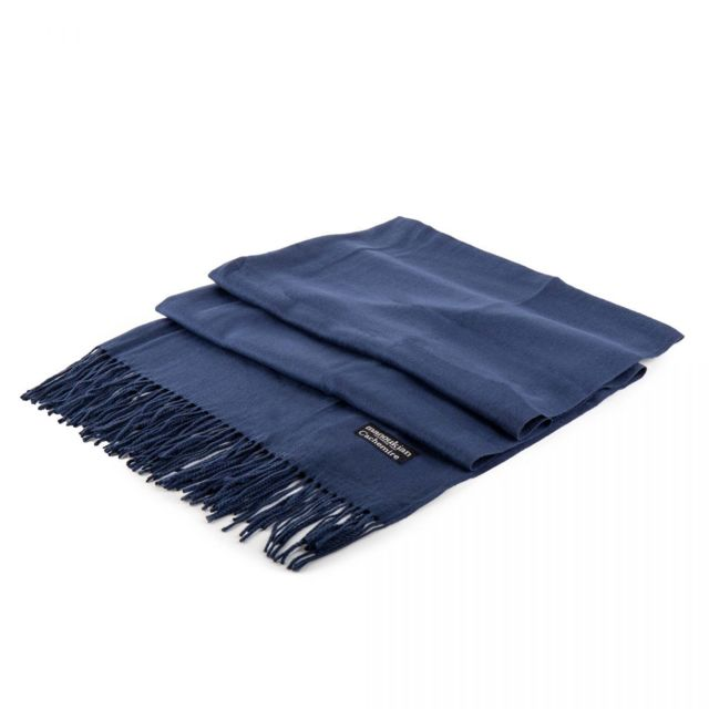 Manoukian - Echarpe cachemire Melvin 180cm x 67cm Femme Bleu - pas cher  Achat   Vente Echarpes, foulards - RueDuCommerce a0a3a9b0f03