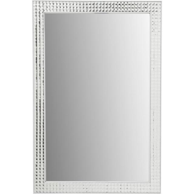 Karedesign Miroir Crystals blanc 80x60cm Kare Design