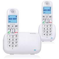 ALCATEL - Téléphone Fixe Sans fil avec répondeur - XL 385 Voice - Duo Blanc