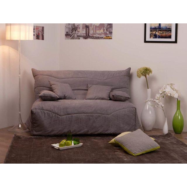 dlm housse bz su dine grise matelass e 140cm lea pas cher achat vente housses canap s. Black Bedroom Furniture Sets. Home Design Ideas