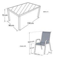 Salon de jardin en toile textilene - Achat Salon de jardin en ...