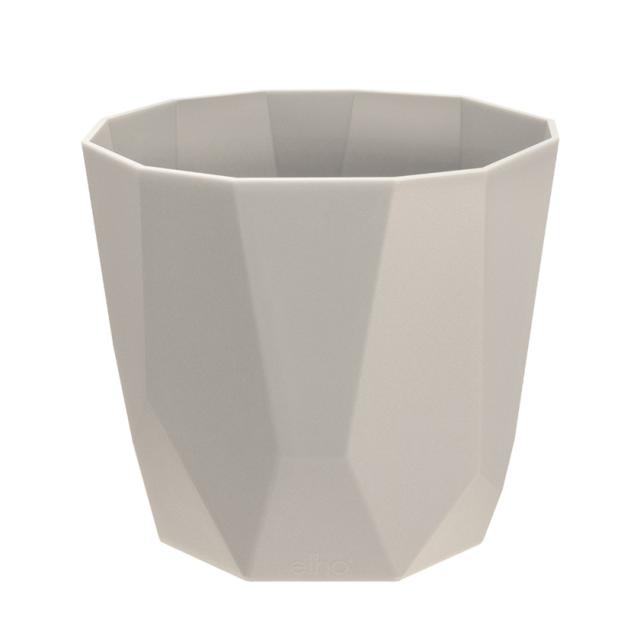 Elho - Cache-pot de fleur design géométrique à facette en ...