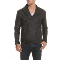 Napp Jeans - Blouson Goose leather / denim jacket black