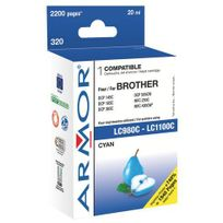 Armor - Cartouche compatible Brother Lc980-LC1100 cyan