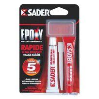 Sader - Colle époxy rapide seringue 25ml