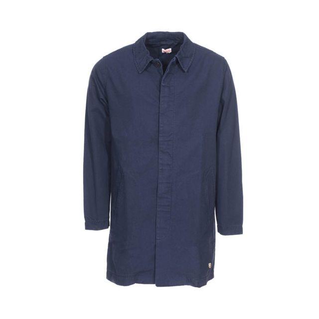 armor lux manteau armor lux heritage en coton bleu marine pas cher achat vente manteau. Black Bedroom Furniture Sets. Home Design Ideas