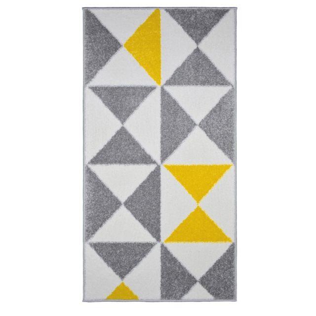 Tapis de salon scandinave Forsa jaune 60x110cm