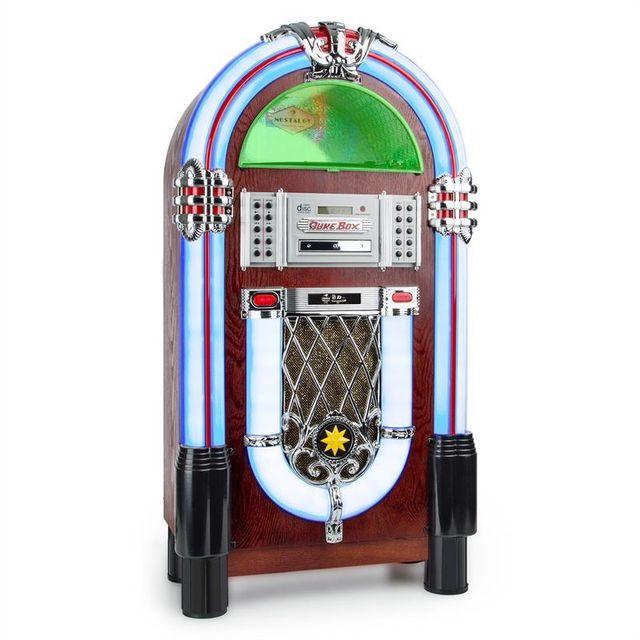 AUNA - Graceland TT Jukebox Bluetooth Phono lecteur CD USB SD MP3 AUX FM