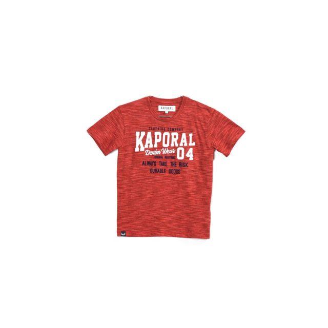 00831c1b41167 Kaporal 5 - Kaporal Tee-Shirt Garçon Rooky Rouge - Taille - 14 ans ...