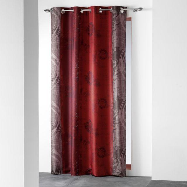 douceur d 39 interieur cdaffaires rideau a oeillets 140 x 260 cm polyester imprime d f nunoa. Black Bedroom Furniture Sets. Home Design Ideas