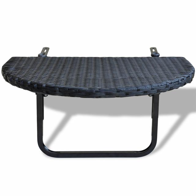 Rocambolesk - Superbe Table de balcon en rotin synthétique noir neuf Nc - Nc